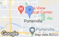 Map of Porterville, CA