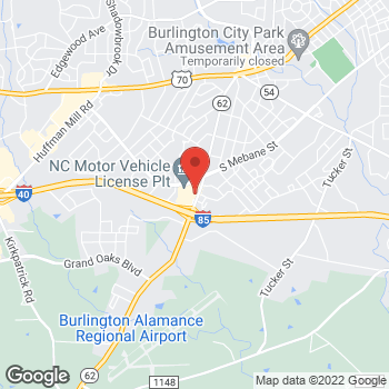Map of State Employees' Credit Union at 2623 Alamance Rd, Burlington, NC 27215