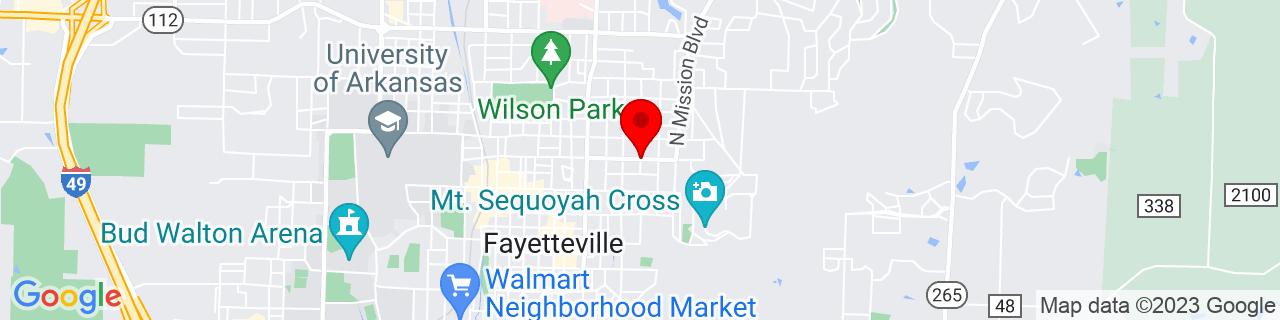 Google Map of 36.0684493, -94.1531005