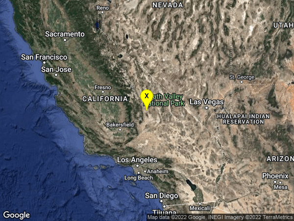 earthquake 12km ENE of Coso Junction, CA