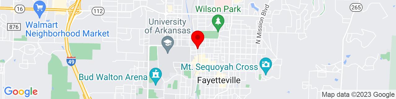 Google Map of 36.069541, -94.166479