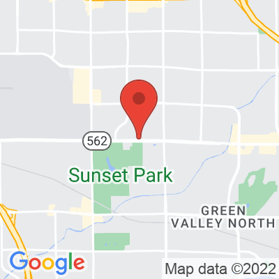 Map showing Sunrise Coffee House