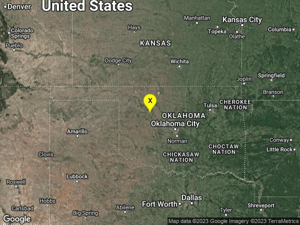 earthquake 26km SW of Fairview, Oklahoma