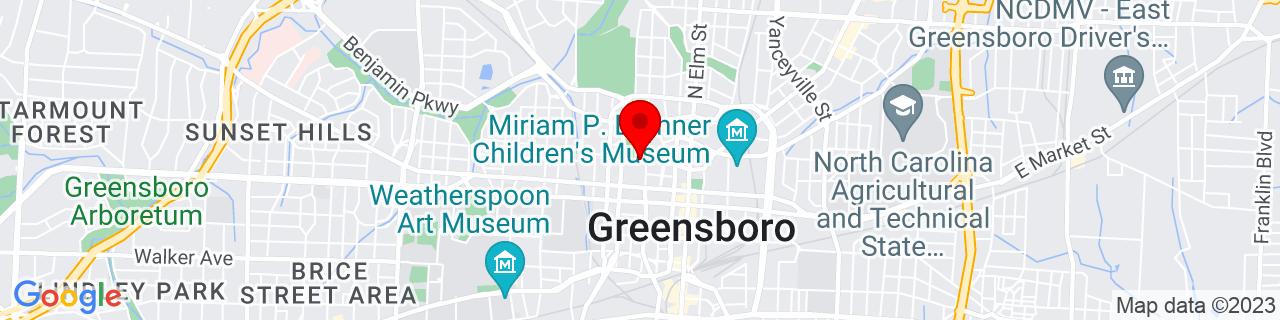 Google Map of 36.0755813, -79.7943611