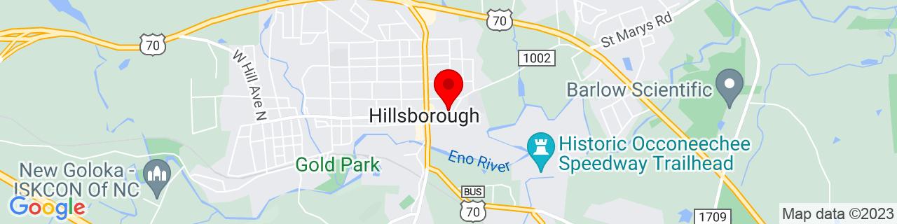 Google Map of 36.075794, -79.096724