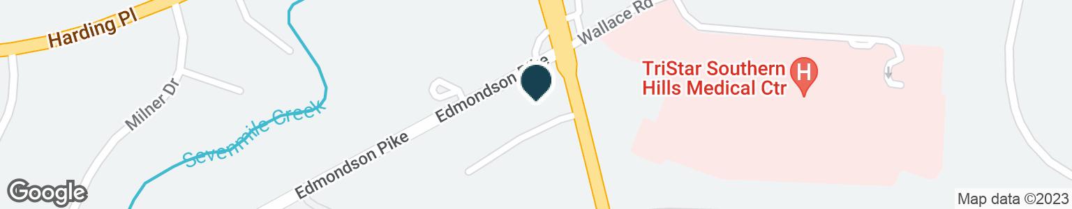 Google Map of4201 NOLENSVILLE PIKE
