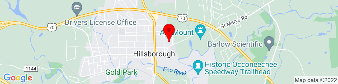 Google Map of 36.078449, -79.09487399999999