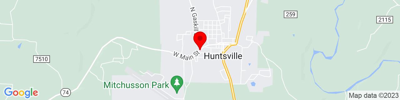 Google Map of 36.086111111111116, -93.74138888888889