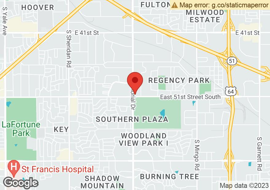 Google Map of 4971 S MEMORIAL DR
