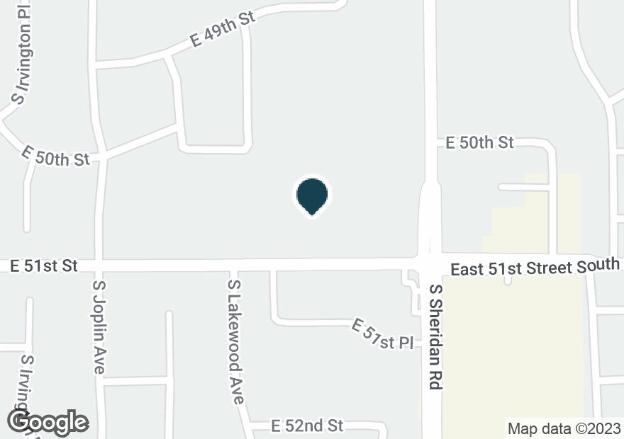 Google Map of5046 S SHERIDAN RD