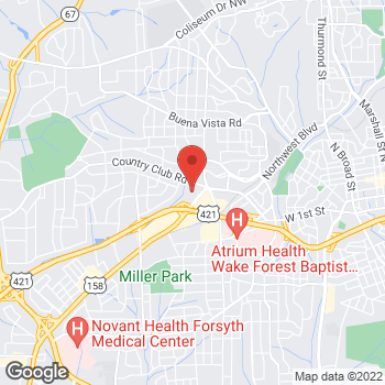 Map of State Employees' Credit Union at 134 S Stratford Rd, Winston Salem, NC 27104