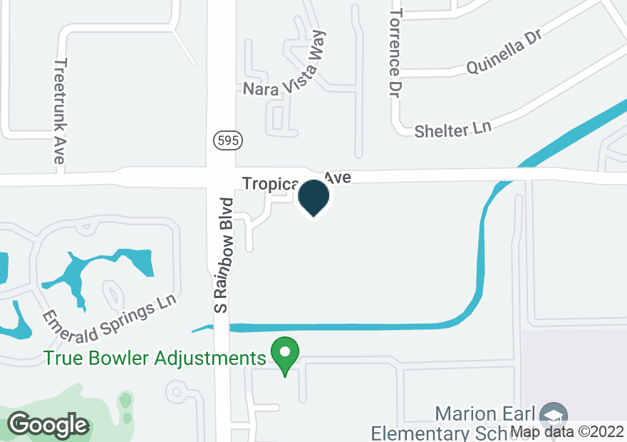 Google Map of6865 W TROPICANA AVE