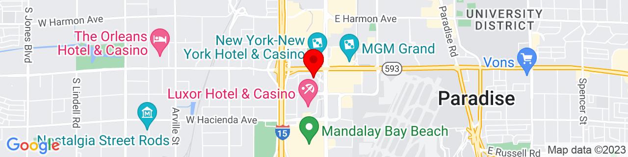 Google Map of 36.099447222222224, -115.175075