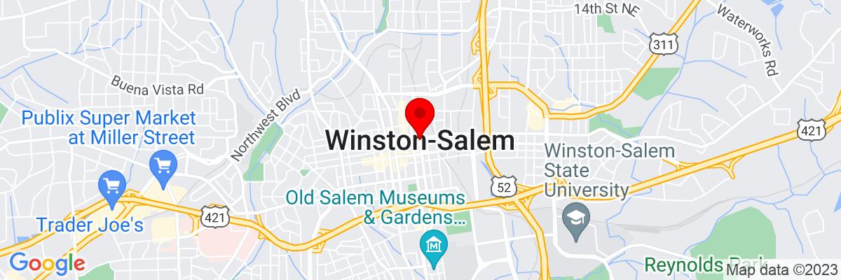 Google Map of 36.099859722222,-80.244216111111