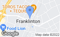 Map of Franklinton, NC