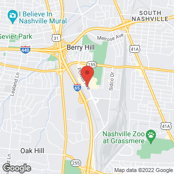 Map of Taco Bell at 2615 Powell Ave, Nashville, TN 37204