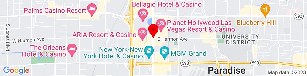 Google Map of 36.10816666666667, -115.17285277777778