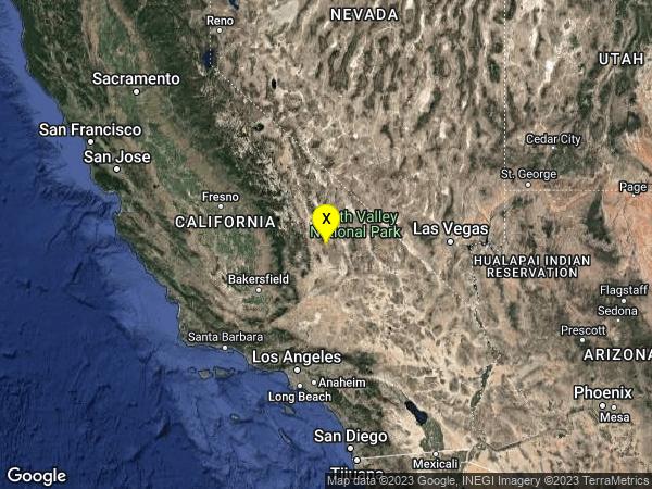 earthquake 27km ENE of Coso Junction, CA