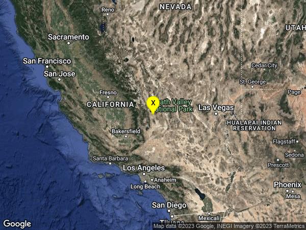 earthquake 11km NE of Coso Junction, CA