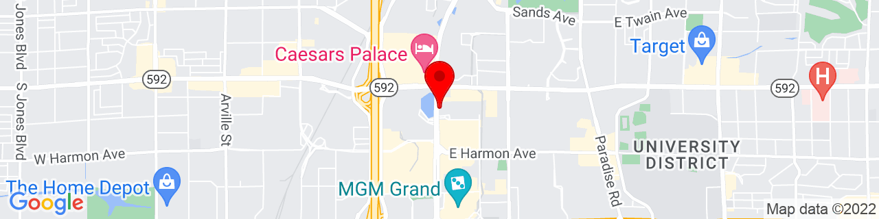 Google Map of 36.11239722222222, -115.1726388888889