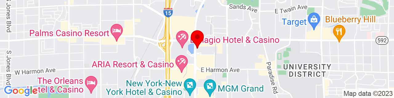 Google Map of 36.11270833333334, -115.17233888888889