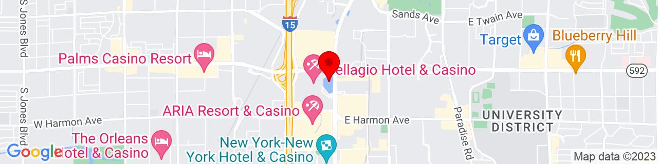 Google Map of 36.113055555555555, -115.17396944444445