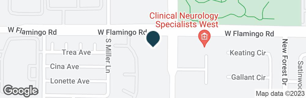 Google Map of7845 W FLAMINGO RD