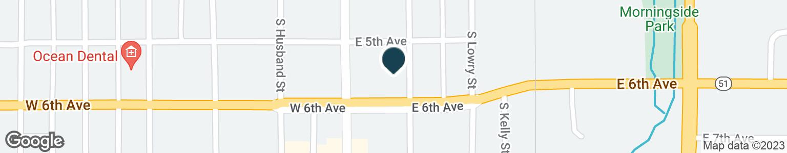 Google Map of519 S MAIN ST