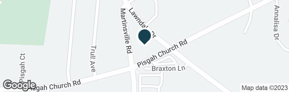 Google Map of3703 LAWNDALE DR