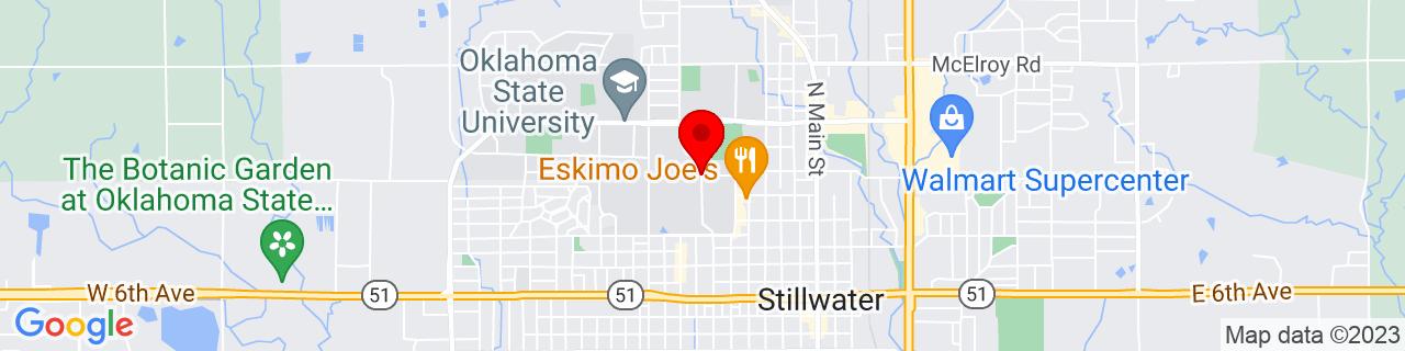 Google Map of 36.123466, -97.0677047