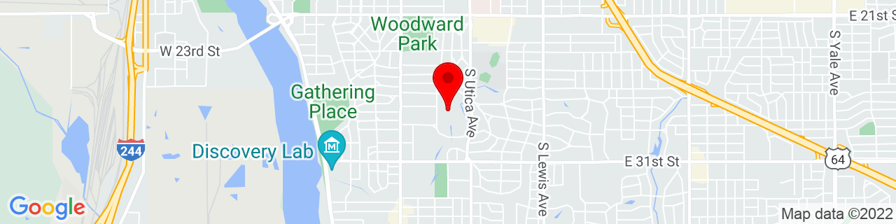 Google Map of 36.1237708, -95.96989789999999