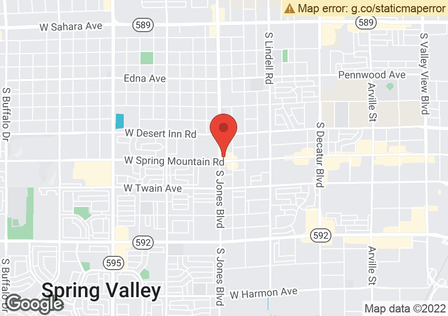 Google Map of 3480 S JONES BLVD