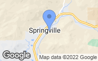 Map of Springville, CA