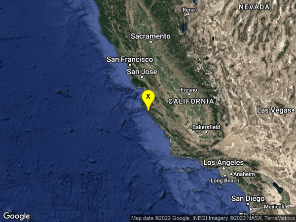 earthquake 14km NNW of Lopez Point, CA