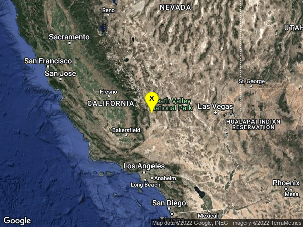 earthquake 11km NNE of Coso Junction, CA