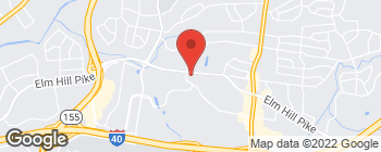 Map of 2601 Elm Hill Pike in Nashville