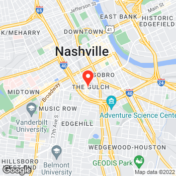 Map of LOFT at 412 11th Avenue South, Nashville, TN 37203