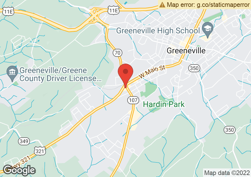 Google Map of 104 ASHEVILLE HWY