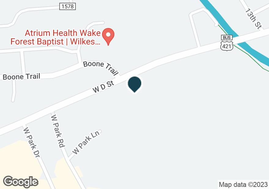 Google Map of1395 W D ST