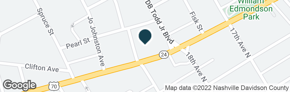 Google Map of1804 CHARLOTTE AVE