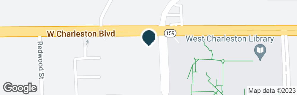 Google Map of6401 W CHARLESTON BLVD