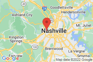 Map of Nashville Area