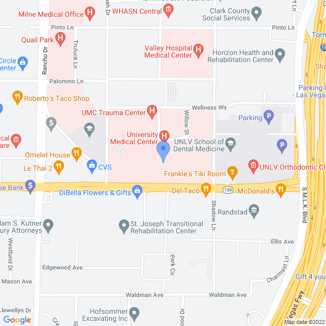 Map showing the University Medical Center (UMC)