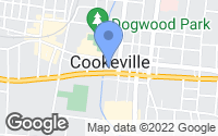 Map of Cookeville, TN