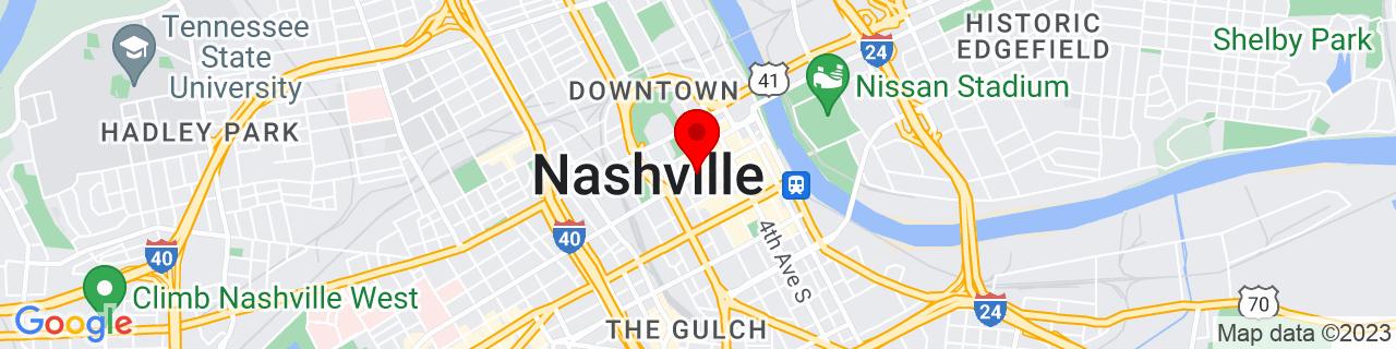 Google Map of 36.1626638, -86.7816016