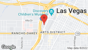 Map of 875 S Grand Central Pkwy in Las Vegas