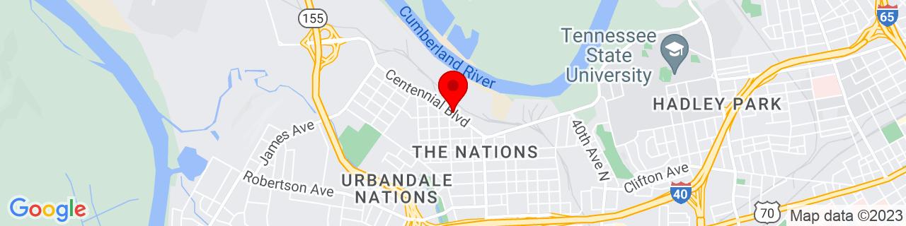 Google Map of 36.164464, -86.85278319999999