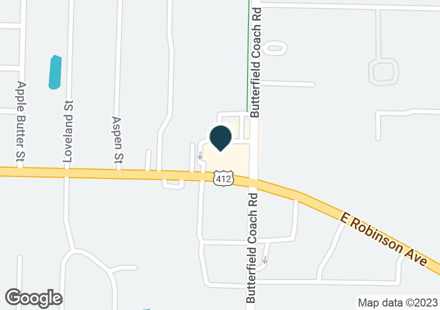 Google Map of3234 E ROBINSON AVE