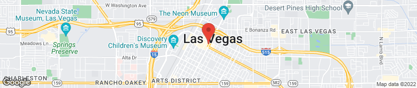 Map of 450 Fremont Street in Las Vegas