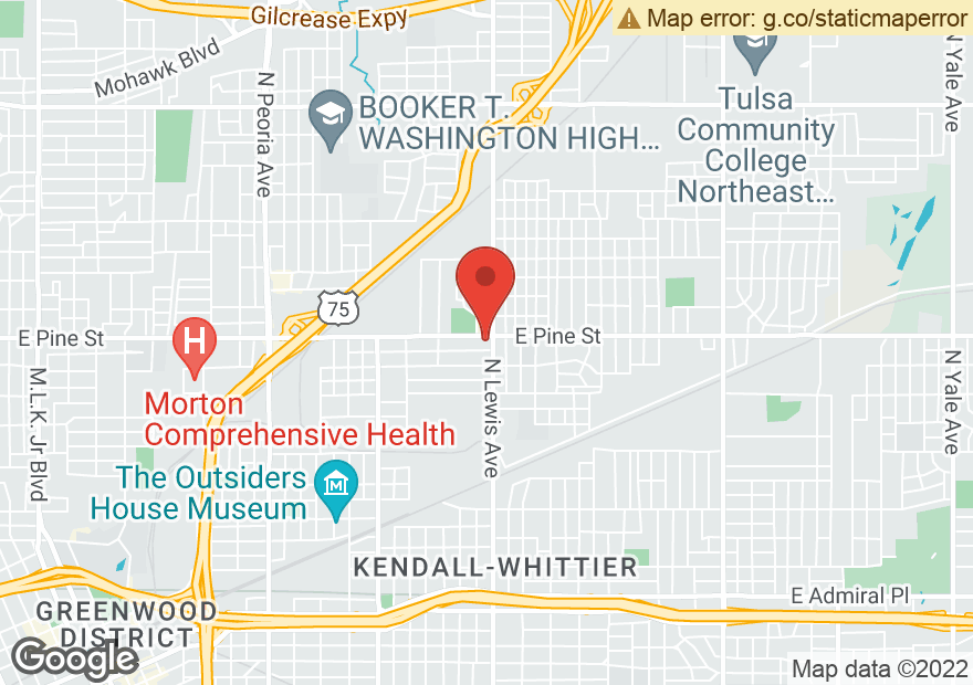 Google Map of 1438 N LEWIS AVE